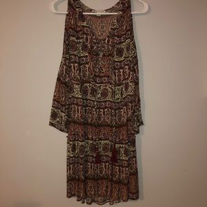 American eagle striped patterned dress size large